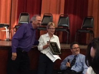Doug Hovey presented the Public Policy Award to Assemblywoman Gunther